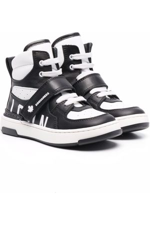 Dsquared2 Jungen Sneakers - High-top panelled leather trainers