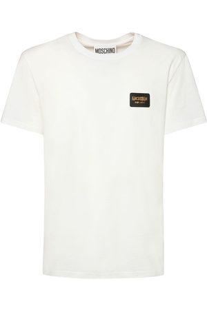 MOSCHINO Herren Shirts - T-shirt Aus Stretch-baumwolle Mit Logo