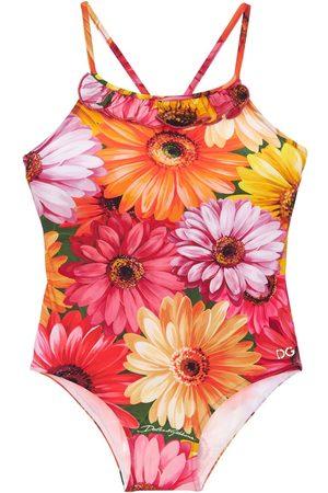 Dolce & Gabbana Damen Badeanzüge - Einteiliger Badeanzug Mit Gerbera-druck