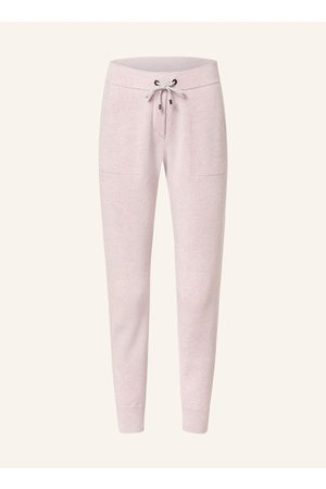 Brunello Cucinelli Damen Lange Hosen - Strickhose Im Jogging-Stil Mit Cashmere rosa