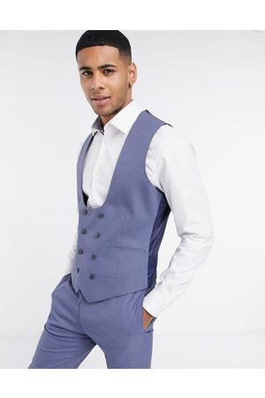 ASOS Wedding super skinny suit waistcoat with micro texture in mid