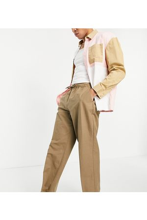 Reclaimed Vintage Inspired linen mix trouser in tan-Neutral