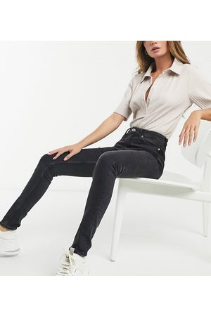 Weekday Thursday organic cotton blend high waist skinny jeans in black