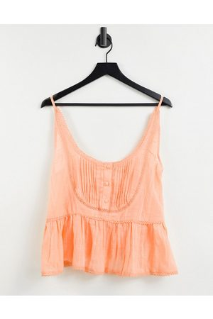 ASOS DESIGN Scoop neck cami with lace insert in