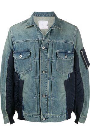 SACAI Panelled denim jacket