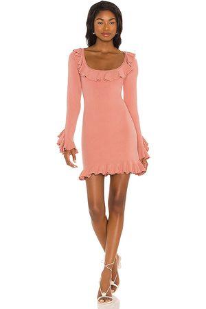 LPA Ruffle Sweater Dress in - . Size L (also in XXS, XS, S, M, XL).