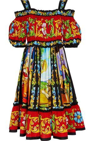 Dolce & Gabbana Bedrucktes Midikleid aus Baumwolle
