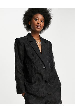 Selected Femme relaxed blazer co-ord in black