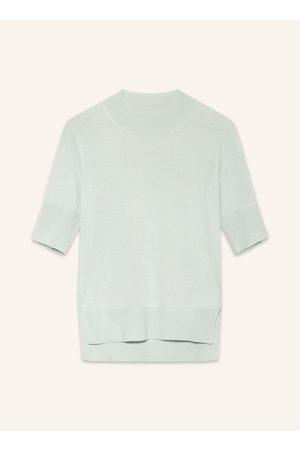 Jil Sander Damen Sweatshirts - Strickshirt Mit Seide Und Cashmere blau