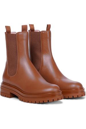 Gianvito Rossi Damen Stiefeletten - Ankle Boots Chester aus Leder