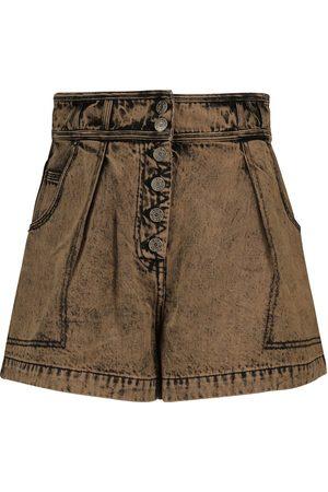 ULLA JOHNSON Geblümte Shorts Ares aus Baumwolle