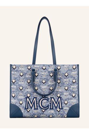 MCM Damen Shopper - Shopper Vintage Jacquard Mit Pouch