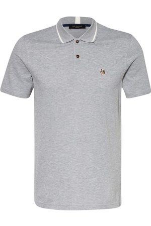 Ted Baker Herren Poloshirts - Piqué-Poloshirt grau
