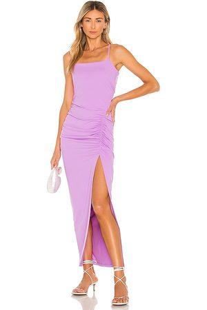 Susana Monaco Damen Lange Kleider - Ruched Slit Maxi Dress in - Lavender. Size L (also in M, S, XS).