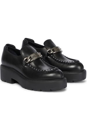 Miu Miu Loafers aus Leder