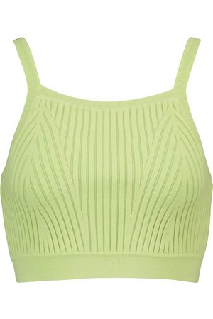 LIVE THE PROCESS Cropped-Top aus Rippstrick