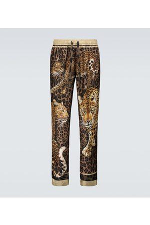 Dolce & Gabbana Bedruckte Pyjama-Hose aus Seide
