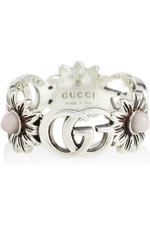 Gucci Ring GG Marmont aus Sterlingsilber mit Perlen