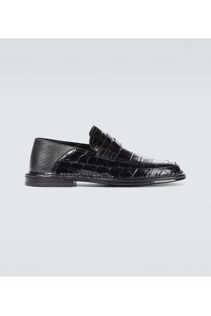 Loewe Loafers aus geprägtem Leder