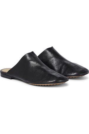 Bottega Veneta Slippers Dot Sock aus Leder