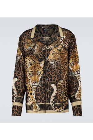 Dolce & Gabbana Bedrucktes Pyjama-Oberteil aus Seide
