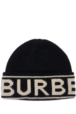 Burberry Beaniemütze Aus Wollstrick Mit Logointarsie