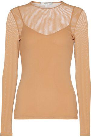 Vince Damen Lange Ärmel - Doppellagiges, langärmliges T-Shirt