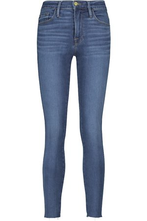 Frame Cropped Skinny-Jeans Le High