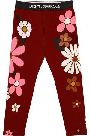 Dolce & Gabbana Kids Bedruckte Leggings aus Baumwolle