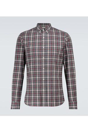Brunello Cucinelli Kariertes Hemd aus Baumwollflanell
