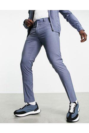 ASOS Herren Chinos - Slim smart trousers co-ord in denim blue