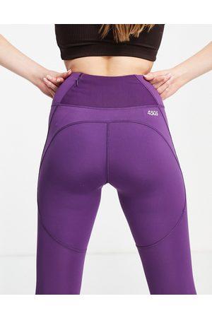 ASOS Icon run tie waist capri legging-Purple
