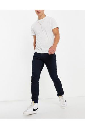 HUGO 734 skinny fit mid wash jeans-Navy
