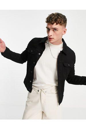 ASOS DESIGN Skinny denim jacket in black