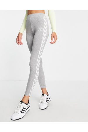 Hummel Classic taped high waisted sports leggings in grey