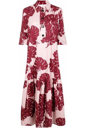 La DoubleJ Damen Freizeitkleider - Artemis abstract-print shirt dress