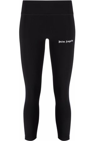 Palm Angels Logo-print high-rise leggings