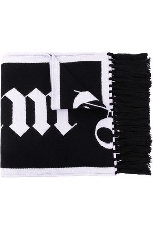 Palm Angels Fringed logo scarf