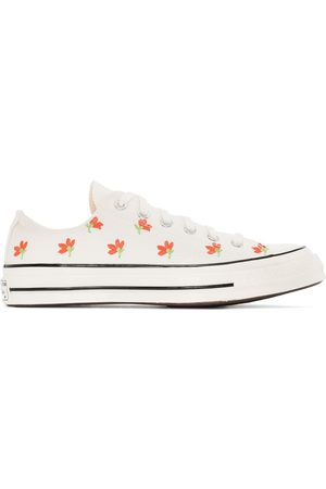 Converse 70 low top embroidered floral sneakers