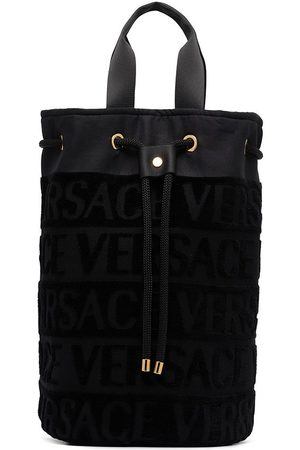 VERSACE Damen Strandtaschen - Logo pattern drawstring beach bag