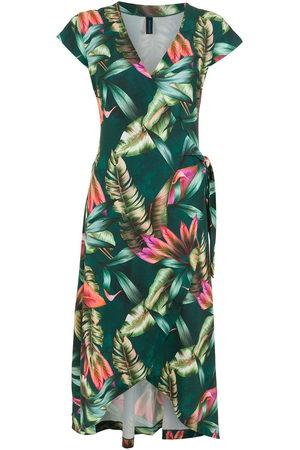 Lygia & Nanny Damen Freizeitkleider - Falcão leaf-print wrap dress
