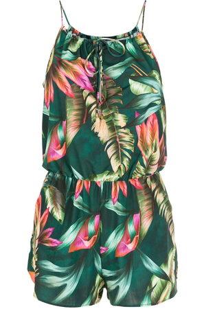 Lygia & Nanny Damen Jumpsuits - Laya leaf-print playsuit