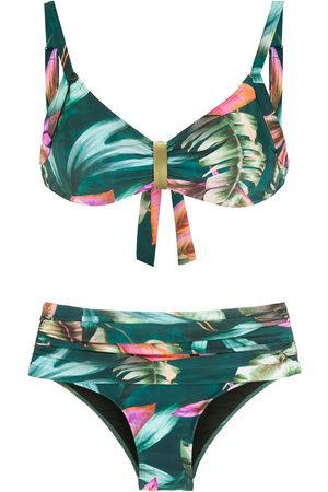 Lygia & Nanny Anne leaf-print bikini