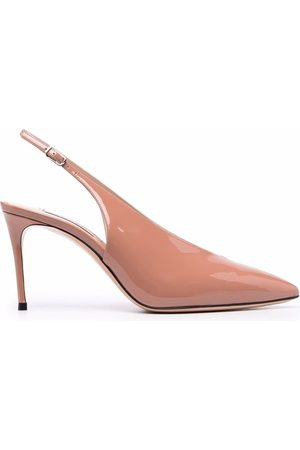 Casadei Pointed-toe patent-leather pumps