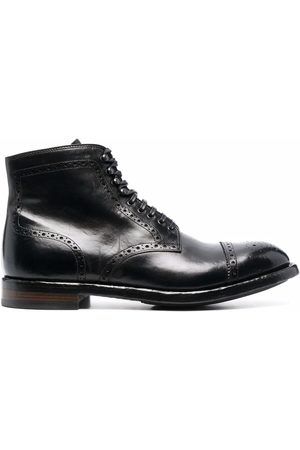 Officine creative Brogue-detail leather ankle boots