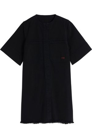 Victoria Victoria Beckham Frayed-hem denim mini dress