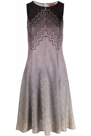 Missoni Zigzag-embroidery sleeveless dress