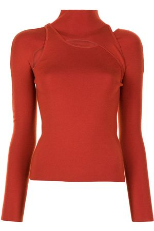 DION LEE Layered knitted jumper