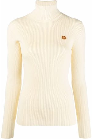 Kenzo Logo-embroidered fine-ribbed jumper