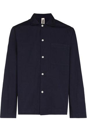 Tekla Herren Lange Ärmel - Long-sleeve poplin pajama shirt